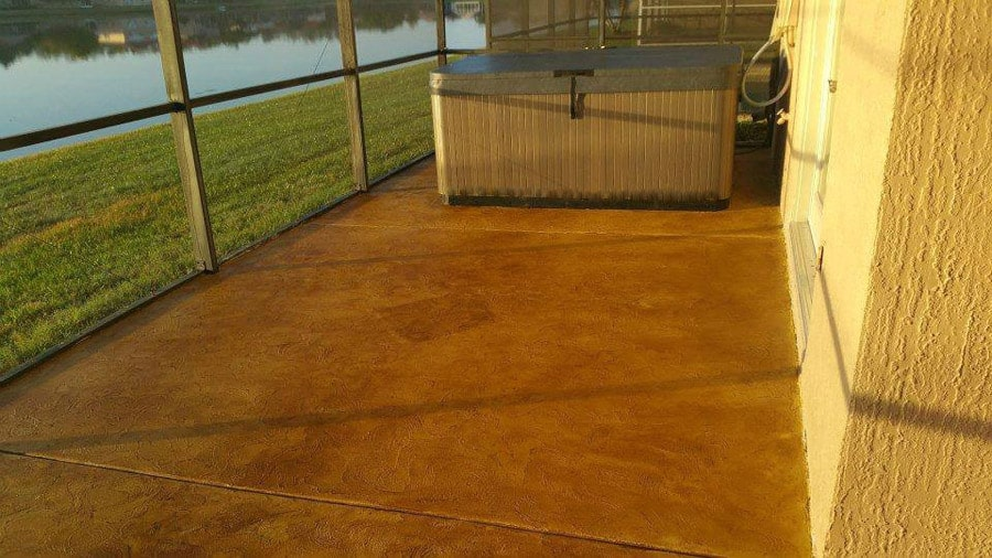 Stained Concrete for a commercial building near a river